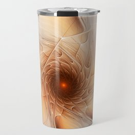 Abstract Wheel, Fractal Art Travel Mug