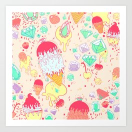 Ice and Cream Art Print