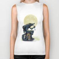 werewolf Biker Tanks featuring Werewolf! by drubskin
