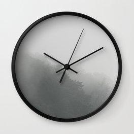 Fifty Shades of Fog * Foggy Mountain Morning * Fine Art  Wall Clock