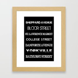 Toronto Streets Side 2 Framed Art Print