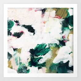 Floral Oil Abtract Art Print