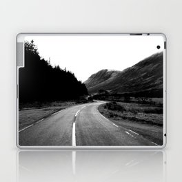 Road through the Glen - B/W Laptop & iPad Skin