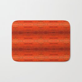 Rustic Orange Geometric Southwestern Pattern - Luxury - Comforter - Bedding - Throw Pillows - Rugs Bath Mat
