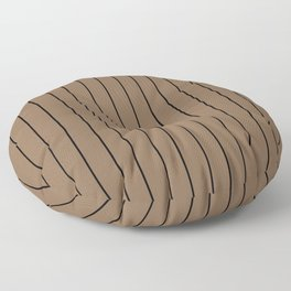 Brown with Black Pinstripes Floor Pillow
