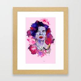 Put your lipstick on Framed Art Print