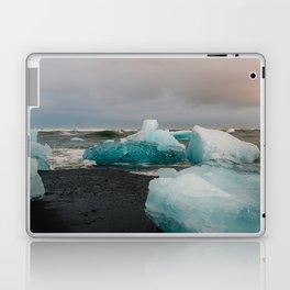 Sunset at the Glacier Lagoon in Iceland Laptop & iPad Skin