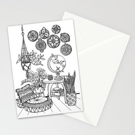 The Wanderer's Room Stationery Cards