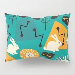Mid-century pattern with bunnies Pillow Sham