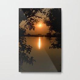 Naturally framed sunset Metal Print