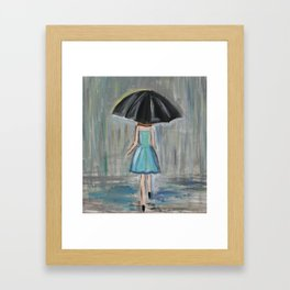 Woman with Umbrella Framed Art Print
