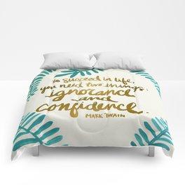 Ignorance & Confidence #1 Comforters