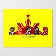 8-bit Andres Bonifacio 2 Canvas Print