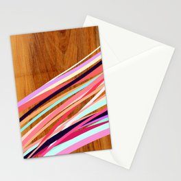Wooden Waves Coral Stationery Cards