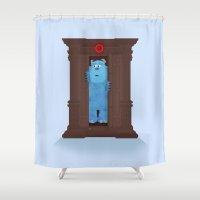 narnia Shower Curtains featuring Monster's Wardrobe by Robert Scheribel