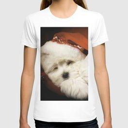 Sleepy Santa Puppy T-shirt