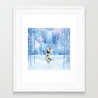 olaf Framed Art Prints featuring OLAF by Electra