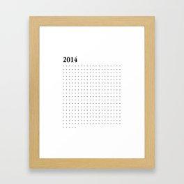 2014 BLACK DOTS Framed Art Print