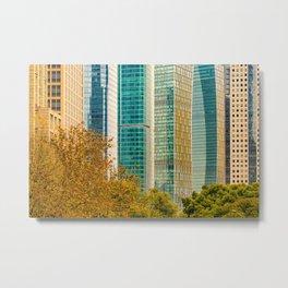 Pudong Financial District, Shanghai, China Metal Print