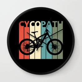 Retro Cycopath Wall Clock
