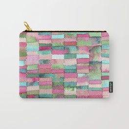 Watercolor blending squares - Green, aqua and fuchsia. Carry-All Pouch