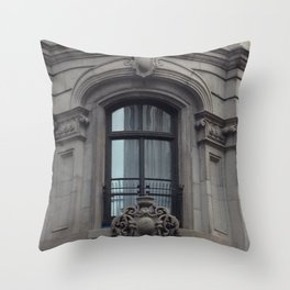 Elegant Hotel Old Montreal Throw Pillow
