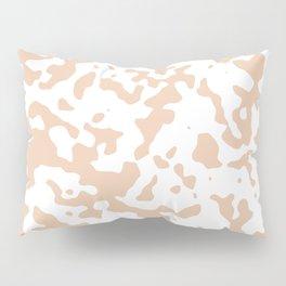 Spots - White and Desert Sand Orange Pillow Sham