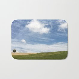 Andalusian field planted in spring Bath Mat
