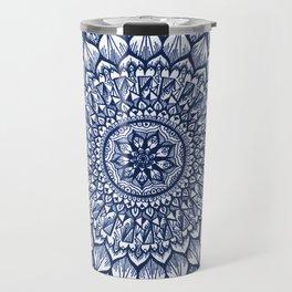 Sand Dollar-Navy Travel Mug
