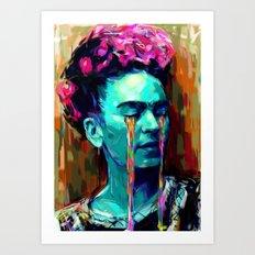 Frida Kahlo Painting II Art Print