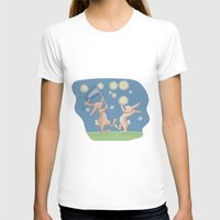 fireflies T-shirts featuring Bunnies Catching Fireflies by Meant for a Moment Designs