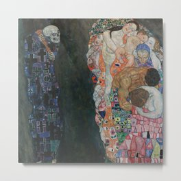 Life and Death - Gustav Klimt Metal Print