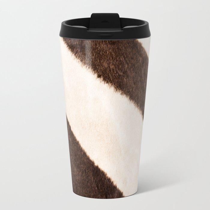 Zebra - stripes - #society6 #buyart #decor Metal Travel Mug