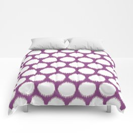 Plum Asian Moods Ikat Dots Comforters
