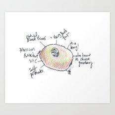 Kiwi fruit. Art Print