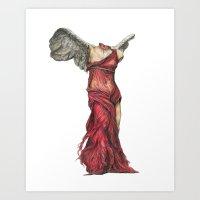 Winged Catastrophe Art Print