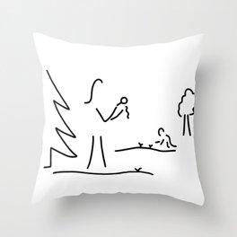 biologist boy scout naturalist Throw Pillow
