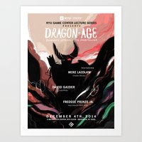 dragon age Art Prints featuring Dragon Age by W Song