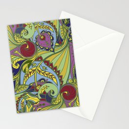 Drawn pattern in Indian style Stationery Cards