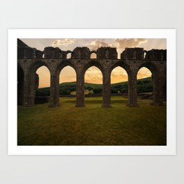 Arches of Llanthony Priory Art Print