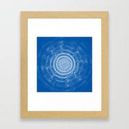 Ripples_blue Framed Art Print