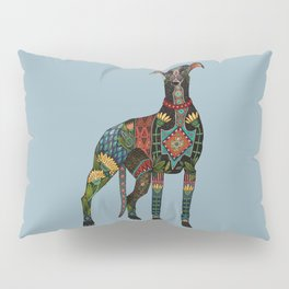 greyhound azure blue Pillow Sham