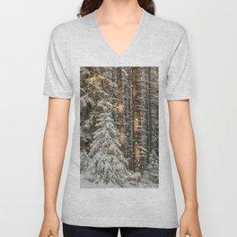 lonely pine Unisex V-Neck