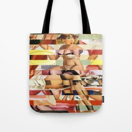 Glitch Pin-Up Redux: Ursula Tote Bag