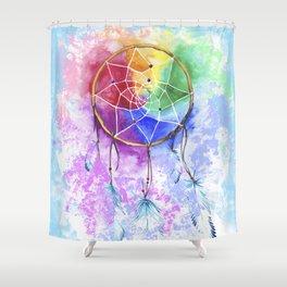 "dreamcatcher ""heavenly dream"" Shower Curtain"