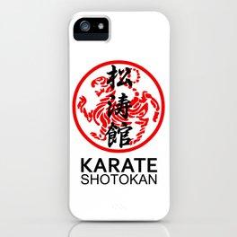 Shotokan Karate Symbol and Kanji iPhone Case