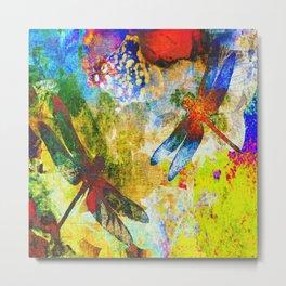 Silk Dragonflies QQ Metal Print