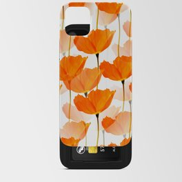 Orange Poppies On A White Background #decor #society6 #buyart iPhone Card Case