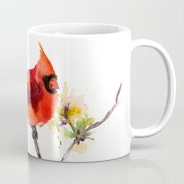 Cardinal Bird in Spring Coffee Mug