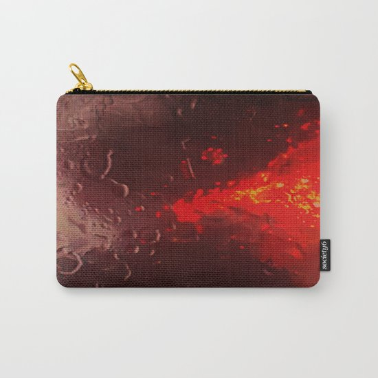 Abstract Red Rain Carry-All Pouch